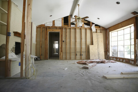 House undergoing renovations - lead paint